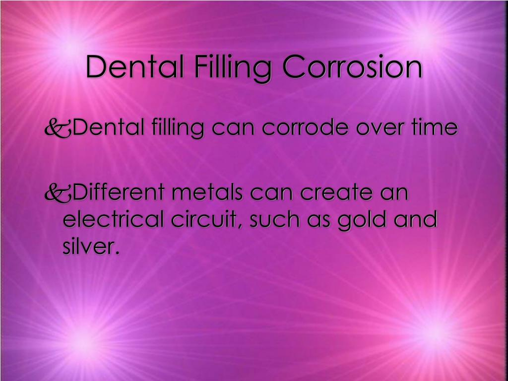 Dental Filling Corrosion