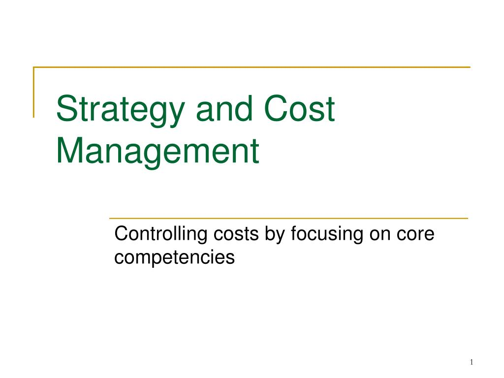 strategy and cost management
