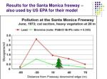 results for the santa monica freeway also used by us epa for their model