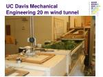 uc davis mechanical engineering 20 m wind tunnel