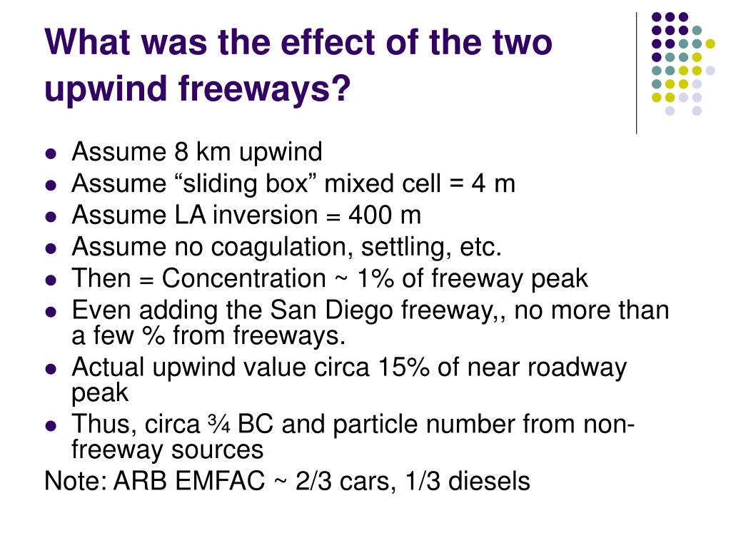 What was the effect of the two upwind freeways?