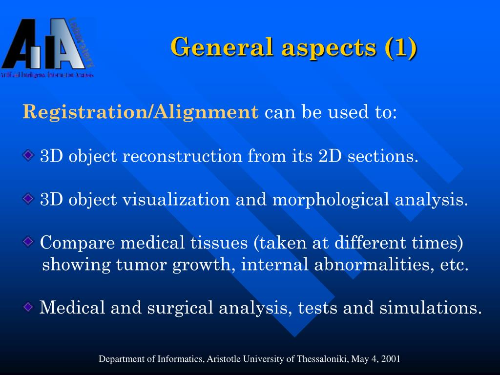 General aspects (1)