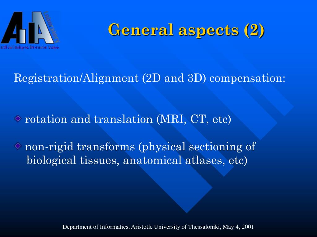General aspects (2)