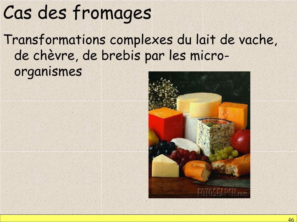 Cas des fromages