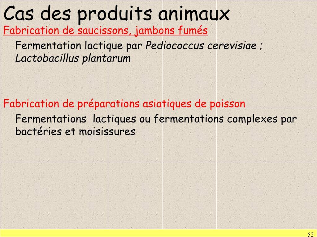 Cas des produits animaux