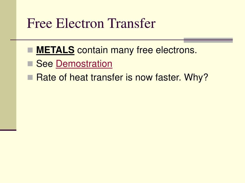 Free Electron Transfer