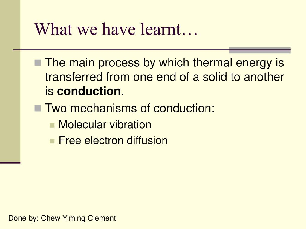 What we have learnt…