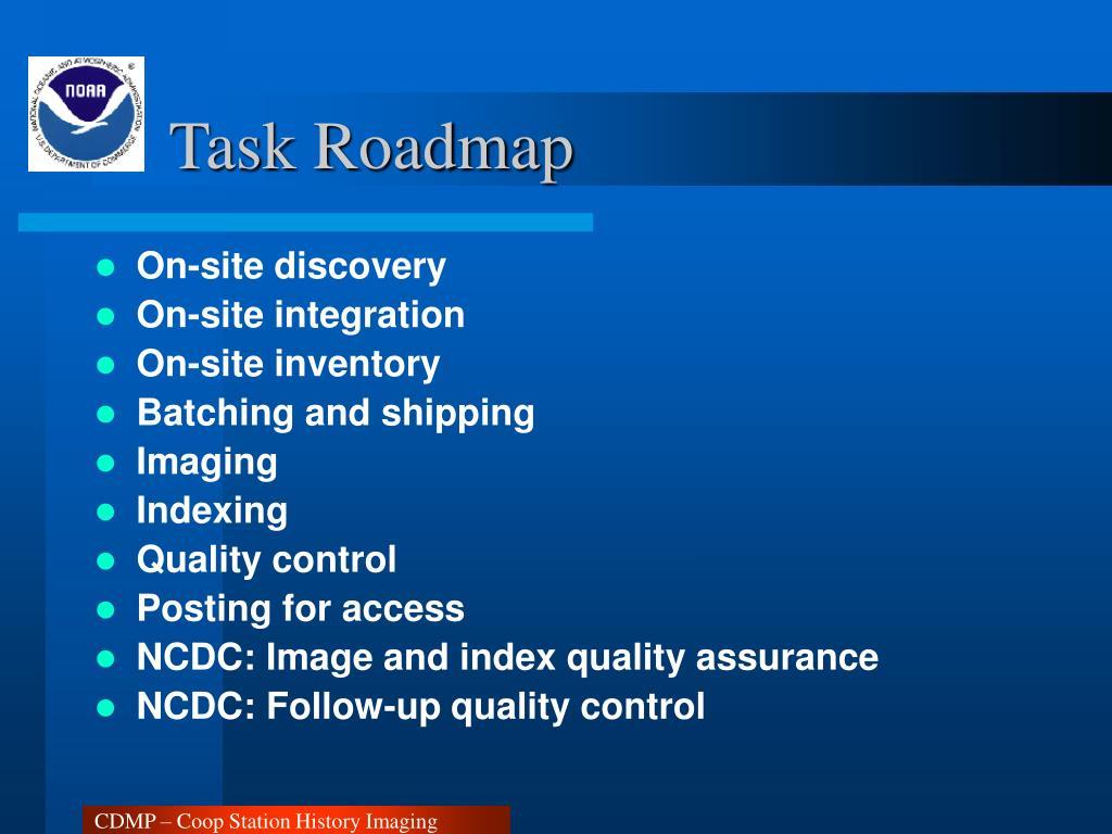 Task Roadmap