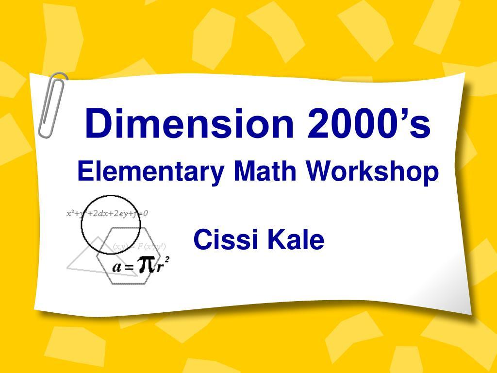 Dimension 2000's