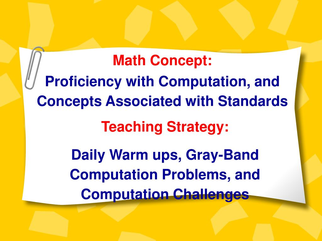 Math Concept: