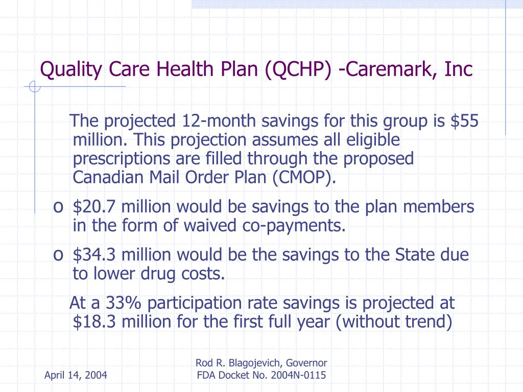 Quality Care Health Plan (QCHP) -Caremark, Inc