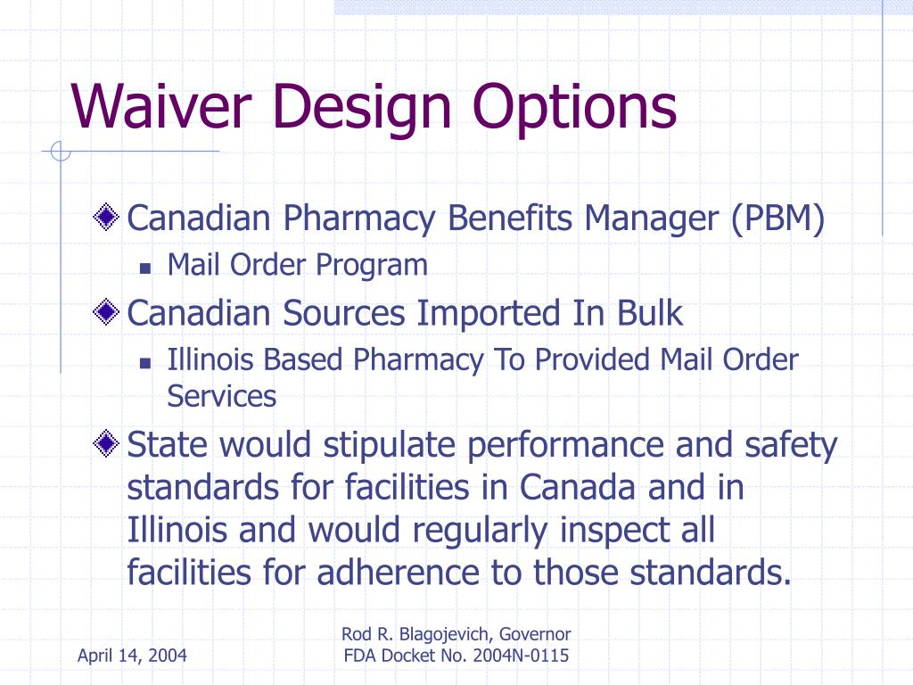 Waiver Design Options