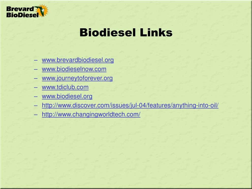 Biodiesel Links