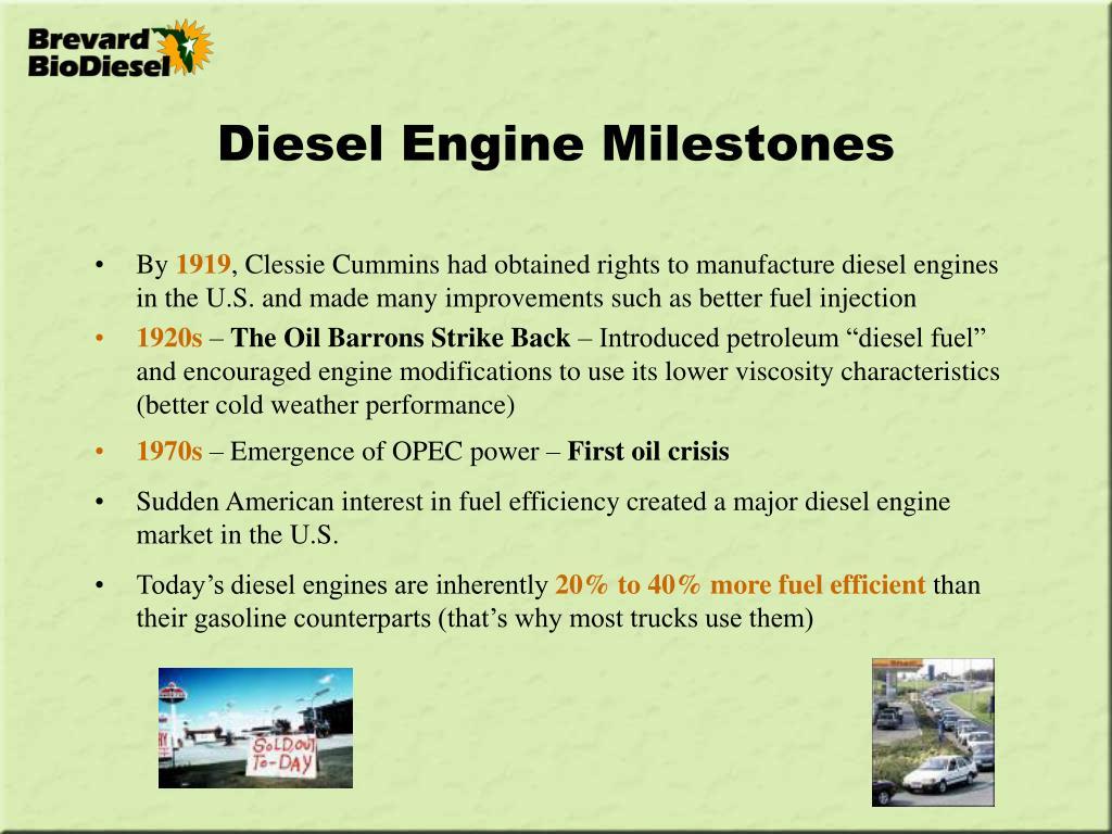 Diesel Engine Milestones