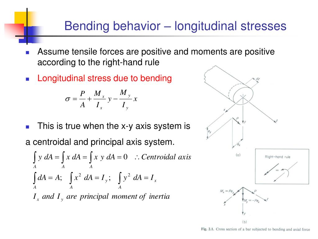 Bending behavior – longitudinal stresses