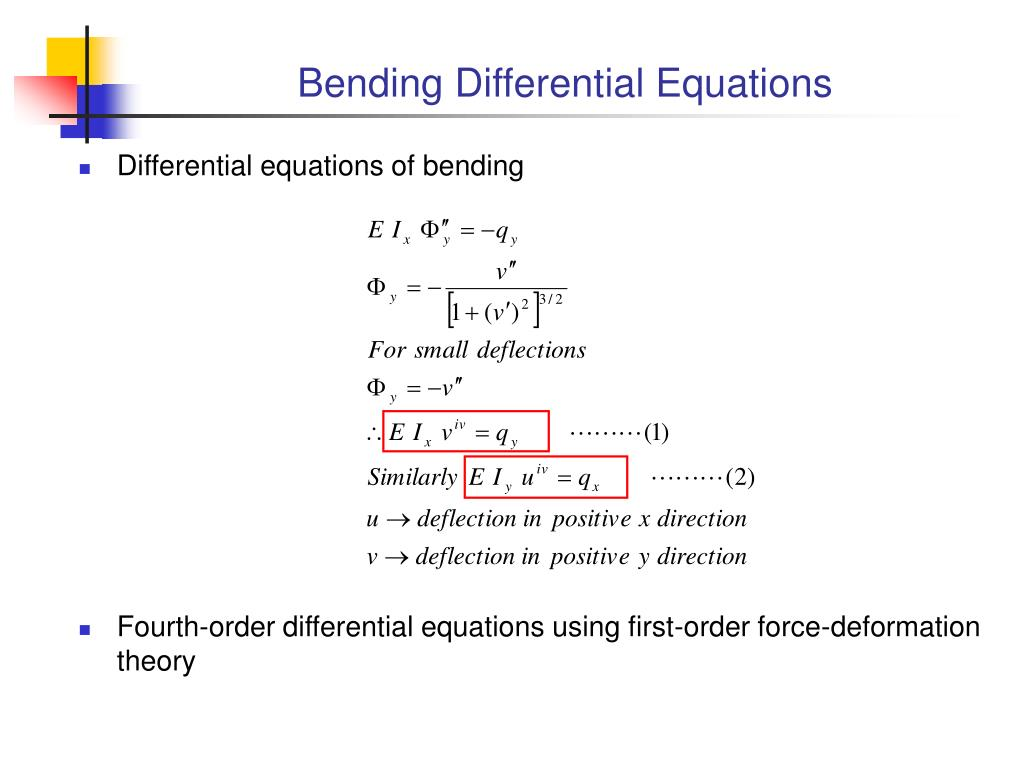 Bending Differential Equations