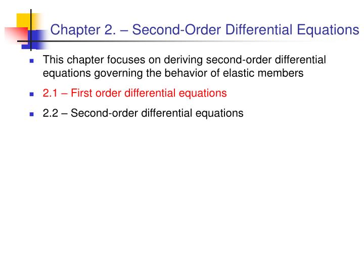 Chapter 2 second order differential equations