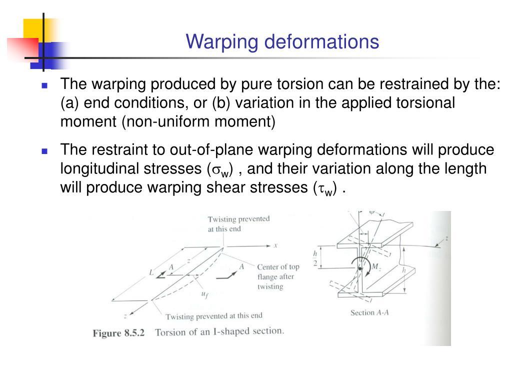 Warping deformations
