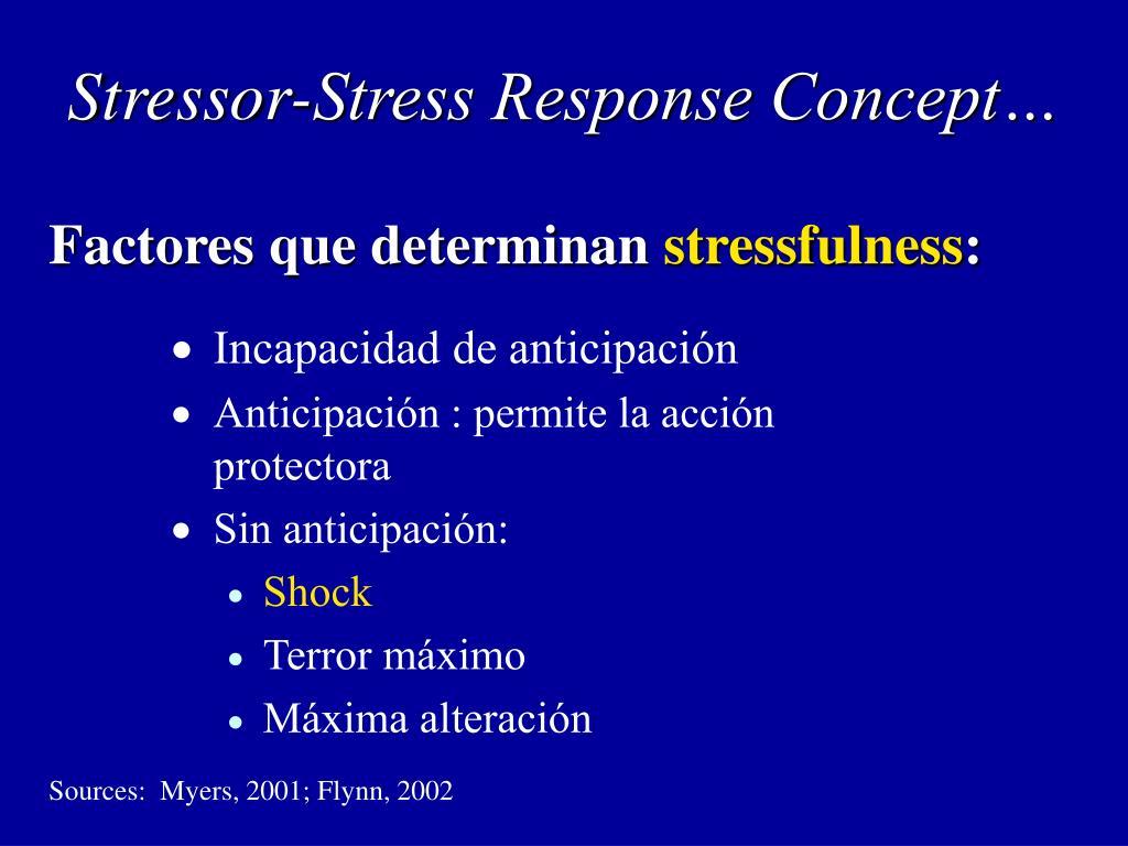 Stressor-Stress Response Concept…