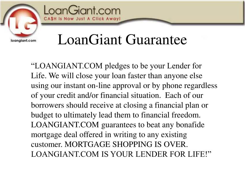LoanGiant Guarantee