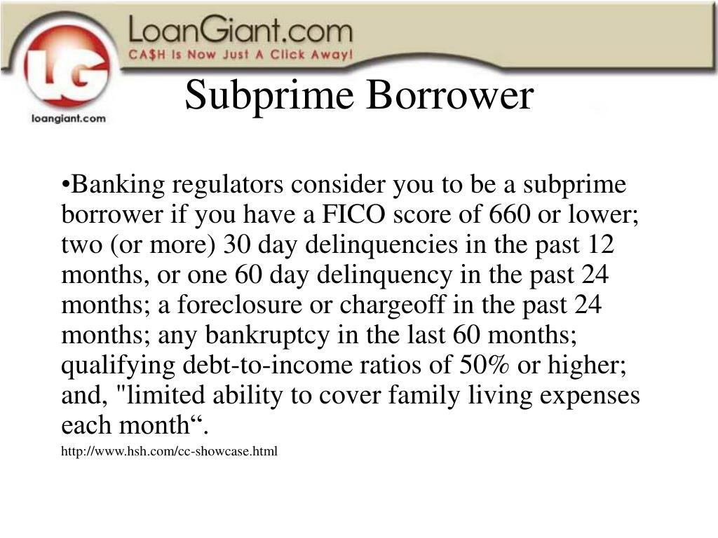 Subprime Borrower