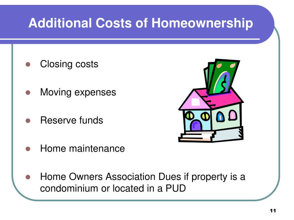 Additional Costs of Homeownership