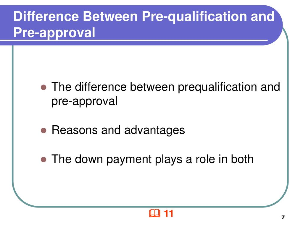 Difference Between Pre-qualification and Pre-approval