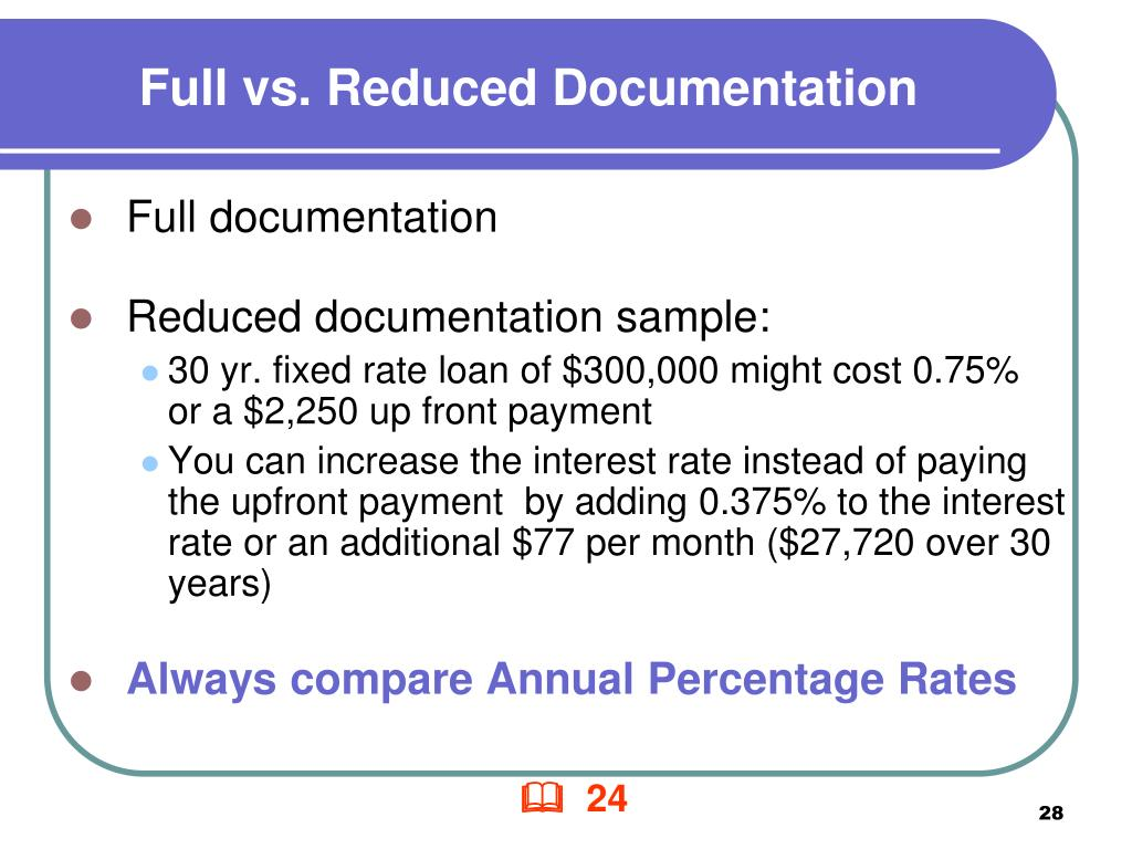 Full vs. Reduced Documentation