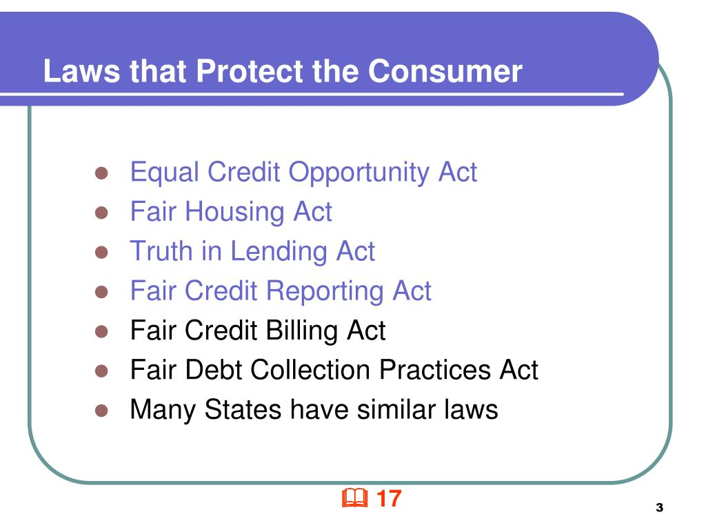 Laws that Protect the Consumer