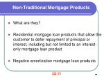 non traditional mortgage products