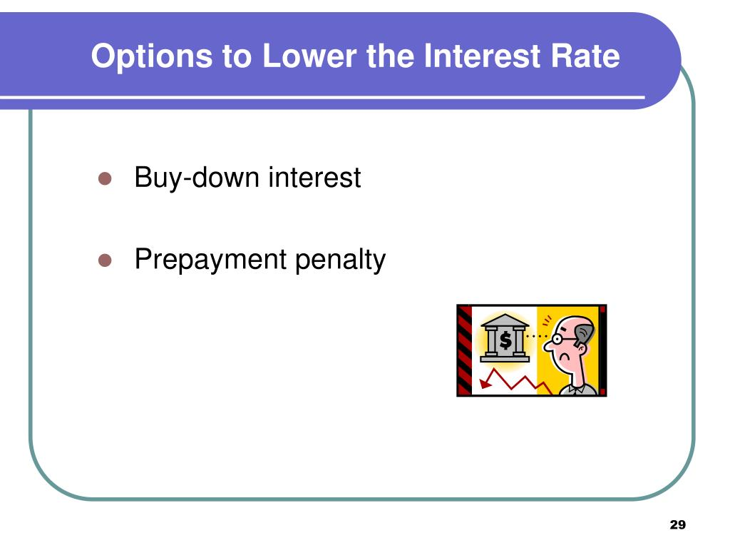 Options to Lower the Interest Rate