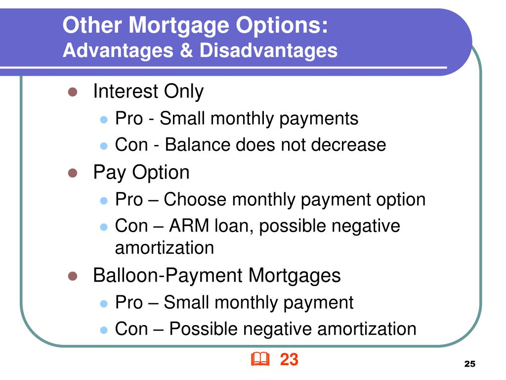 Other Mortgage Options: