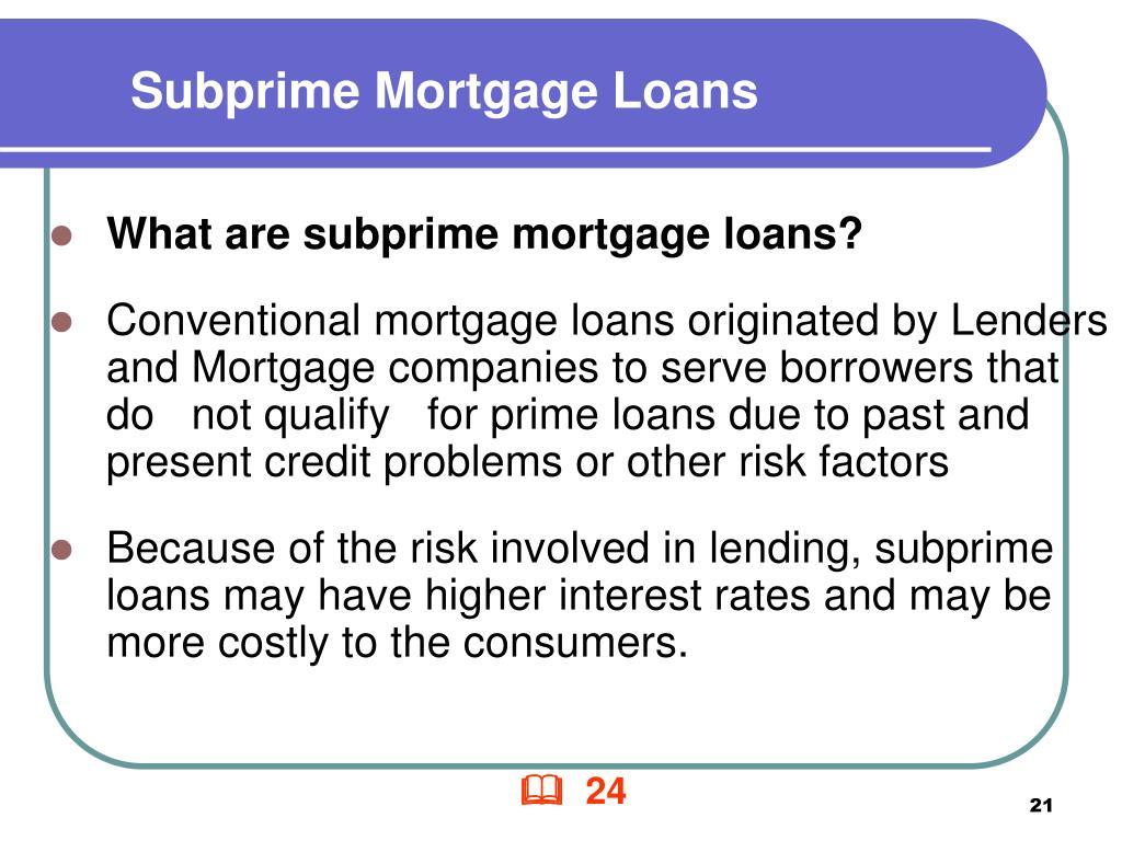 Subprime Mortgage Loans