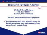 borrower payment address