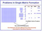 problems in single matrix formation