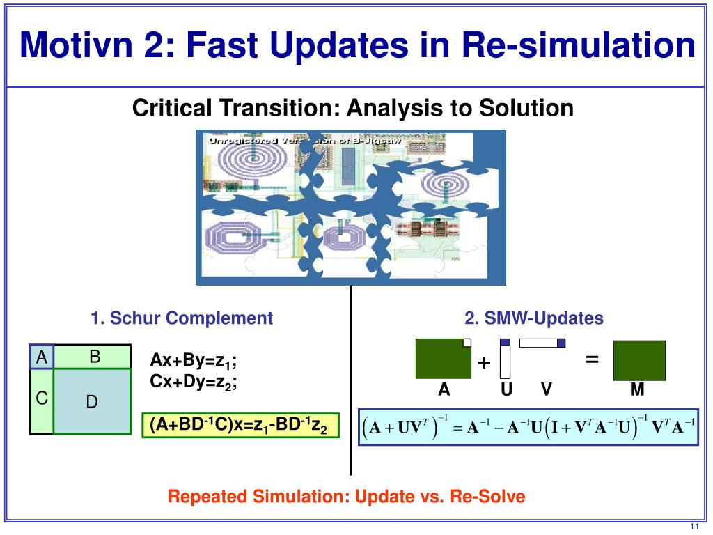 Motivn 2: Fast Updates in Re-simulation