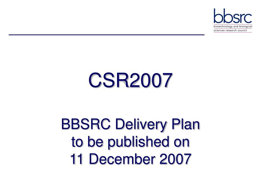 CSR2007