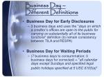 business day different definitions