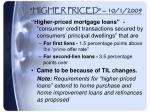 higher priced 10 1 2009
