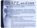 s a f e act of 2008