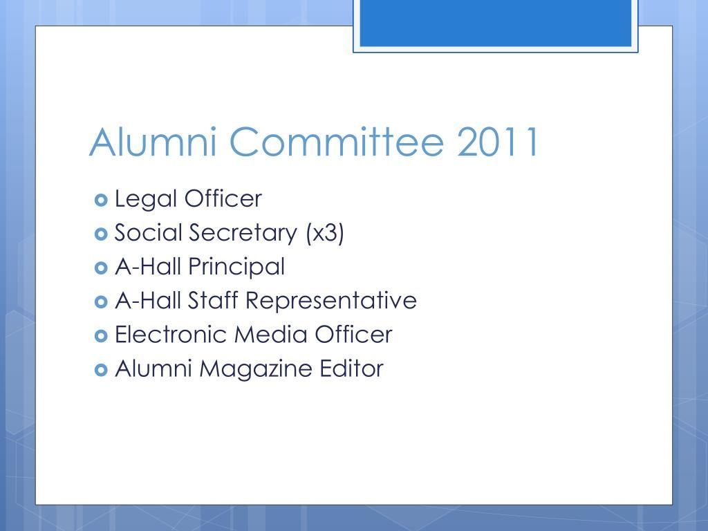 Alumni Committee 2011