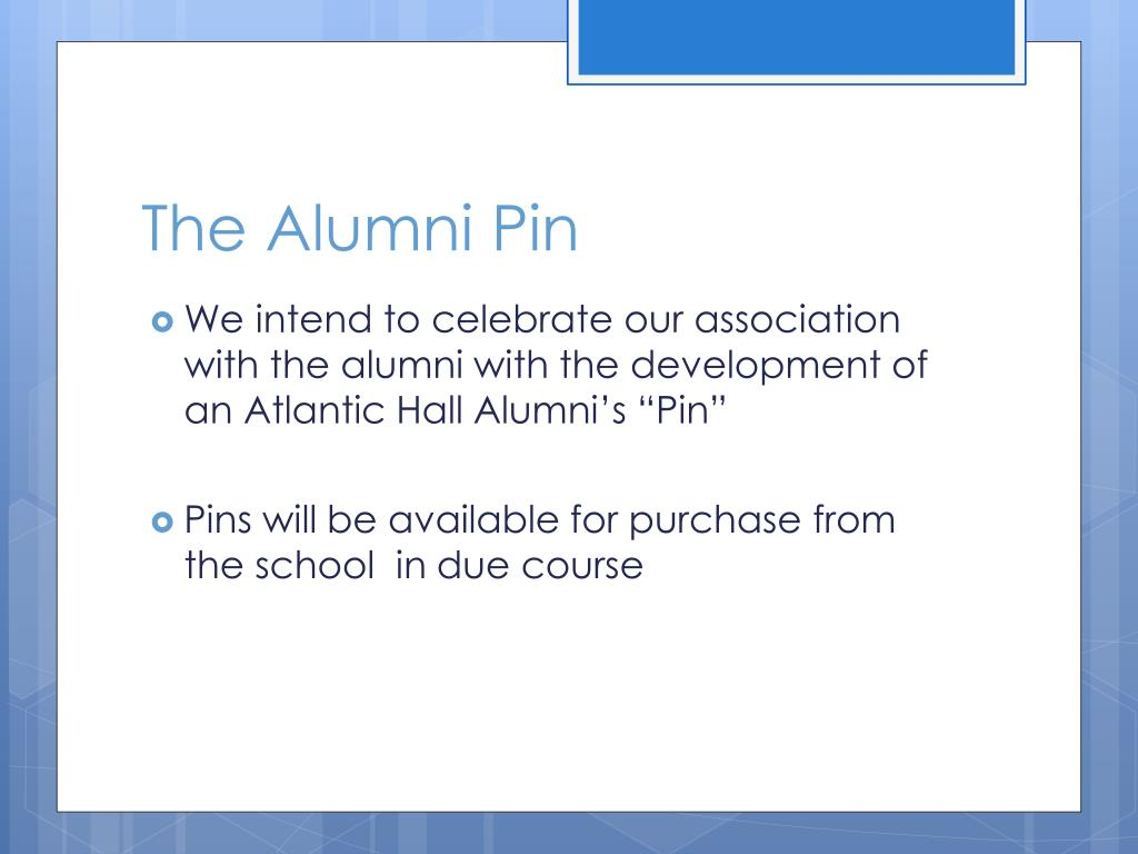 The Alumni Pin