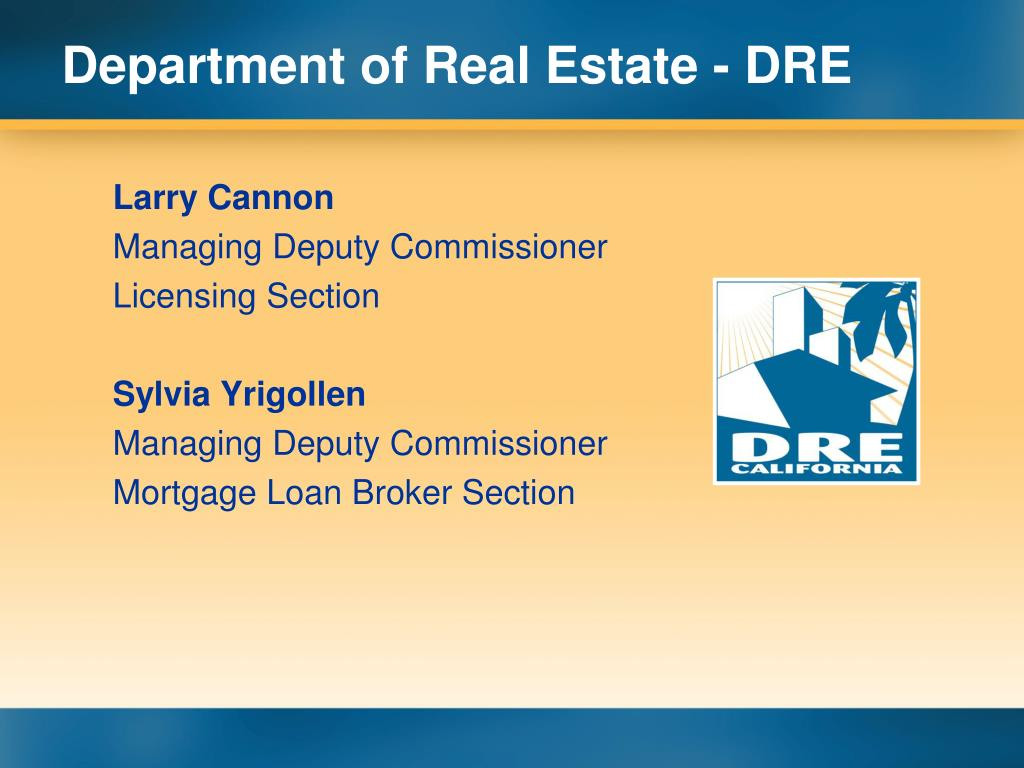 Department of Real Estate - DRE