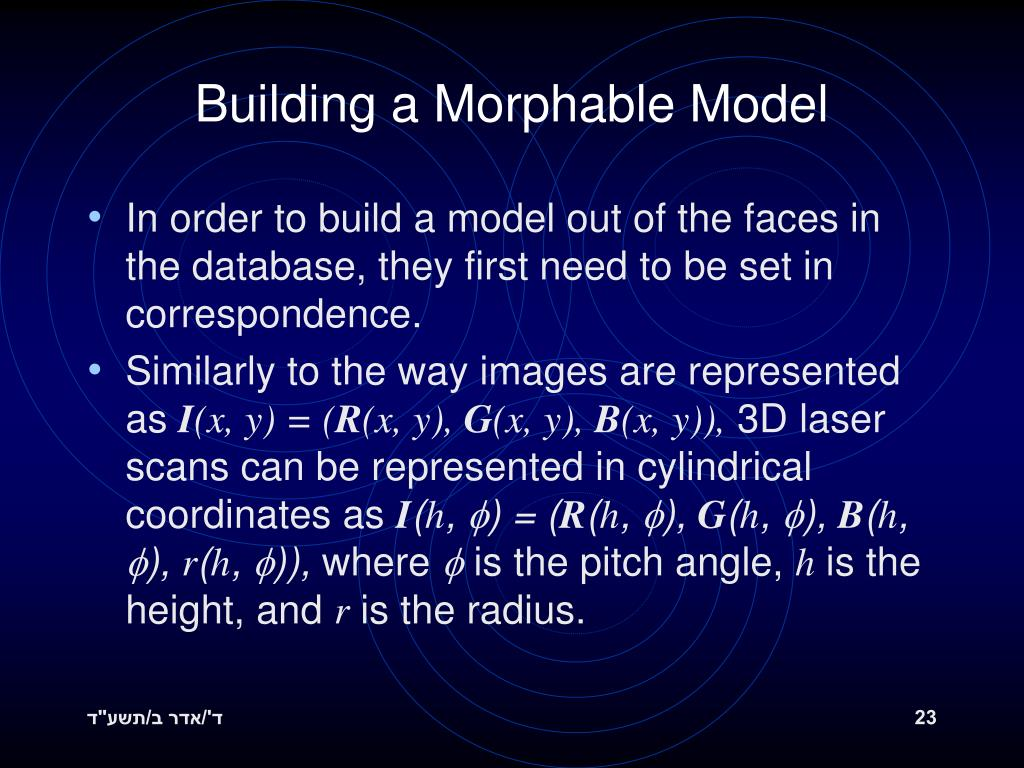 Building a Morphable Model