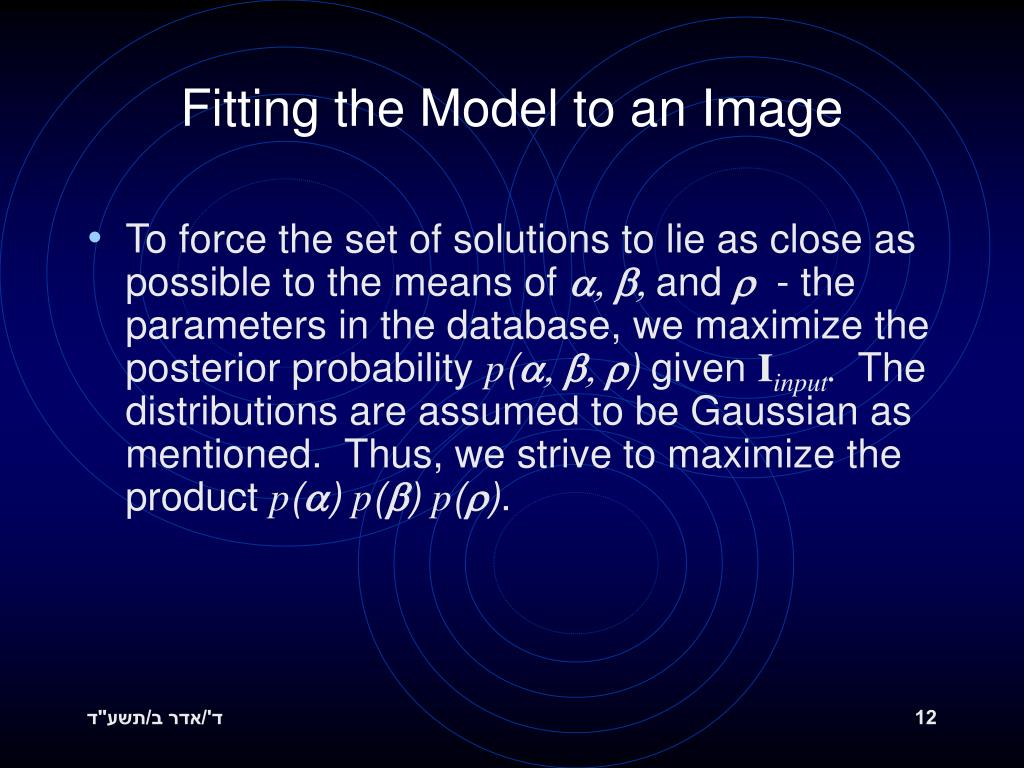Fitting the Model to an Image