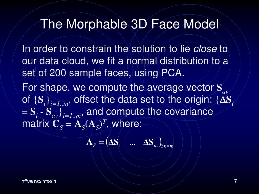 The Morphable 3D Face Model