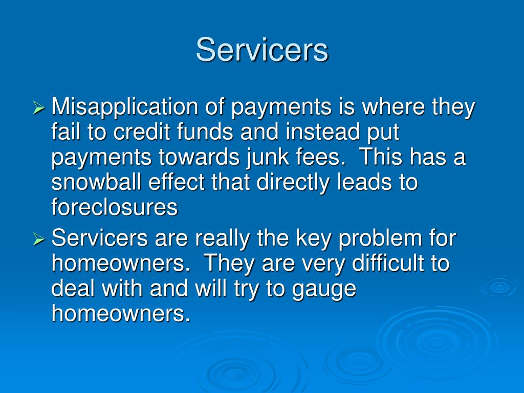 Servicers