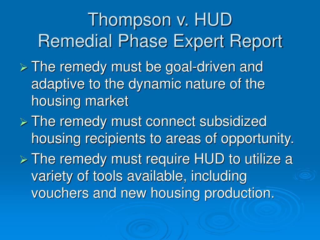 Thompson v. HUD