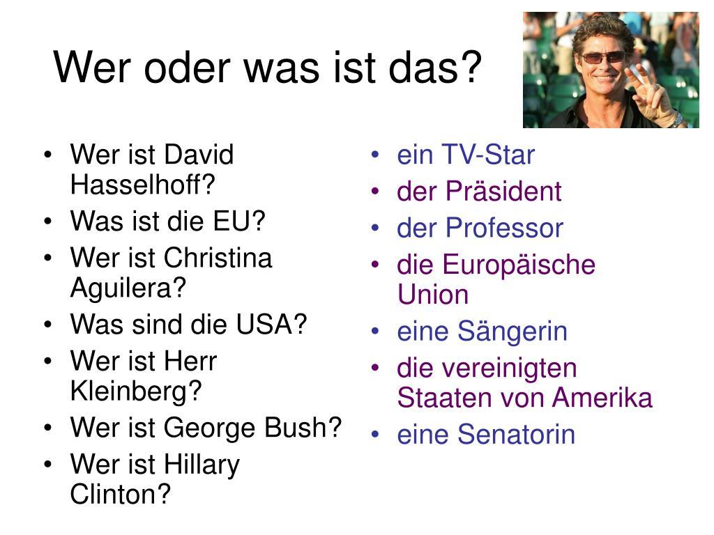 Wer ist David Hasselhoff?