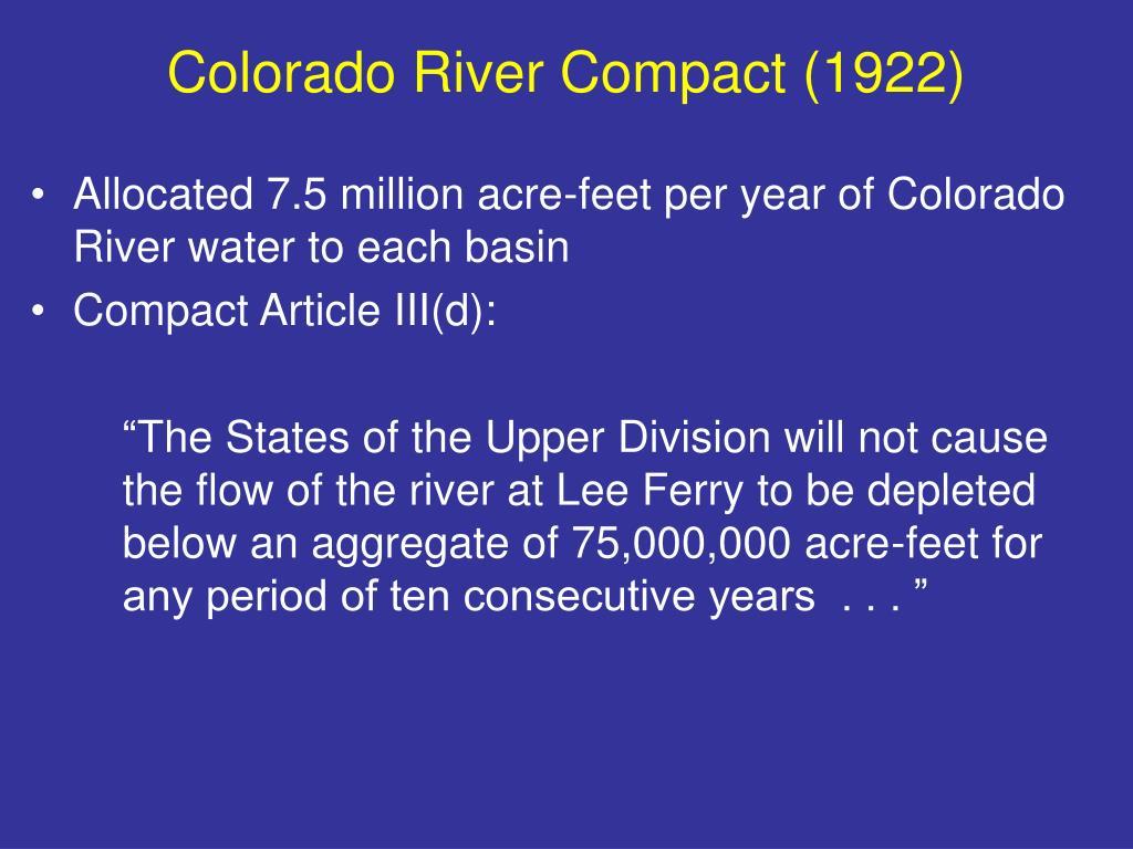 Colorado River Compact (1922)